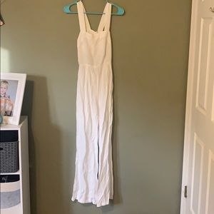 Forever 21 Contemporary White Jumpsuit Small